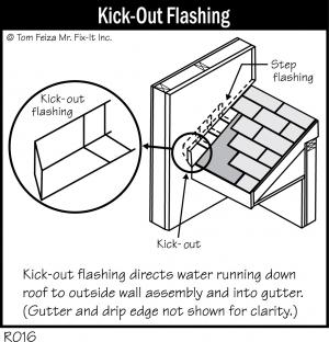 R016 - Kick-Out Flashing